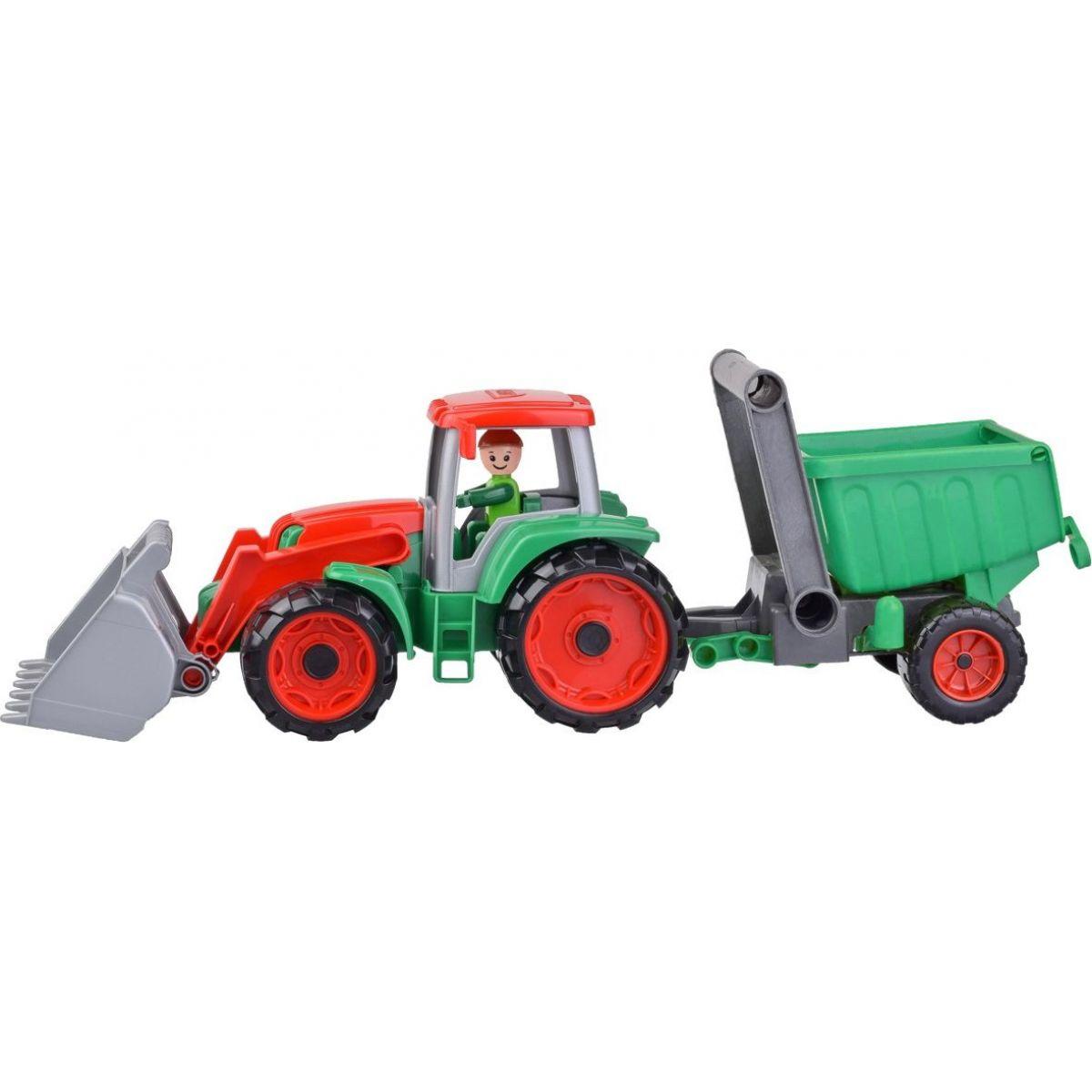 Lena Truxx Traktor s přívěsem s ozdobným kartónem