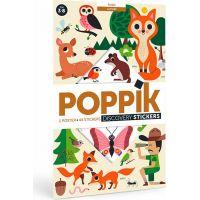 Poppik Samolepkový plakát vzdělávací Lesní zvířata