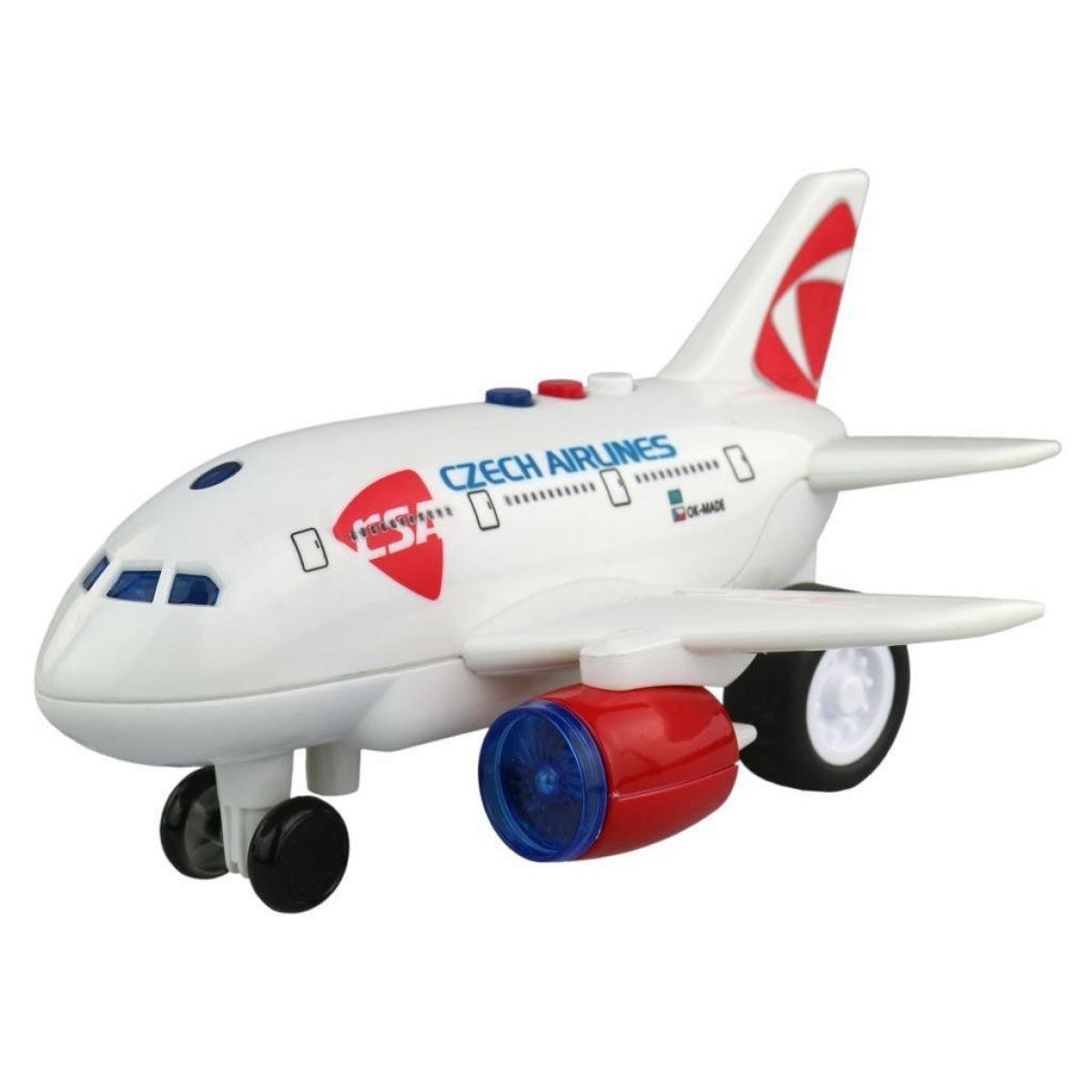 Lietadlo ČSA s hlásením kapitána
