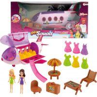 Letadlo plastové s panenkami, oblečky a s plážovým setem