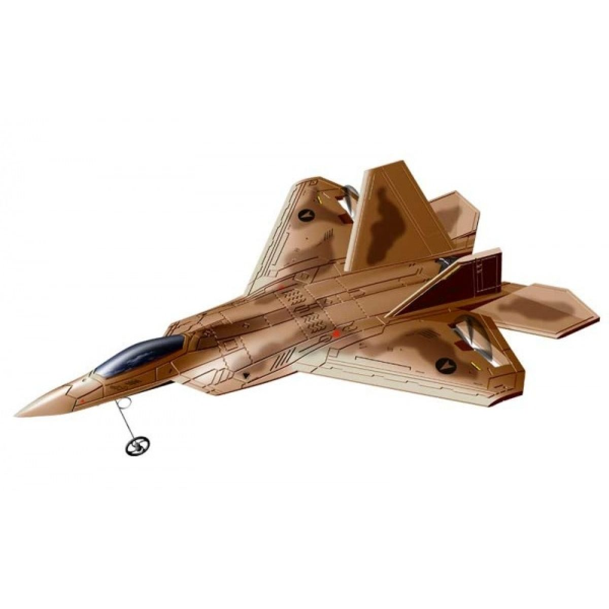 Silverit Letadlo R/C F22 - Hnědá