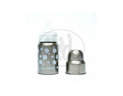 Láhev široká OrganicKidz 270ml bílé puntíky