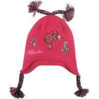 LicenceOnly Zimní čepice Barbie ušanka tmavě růžová
