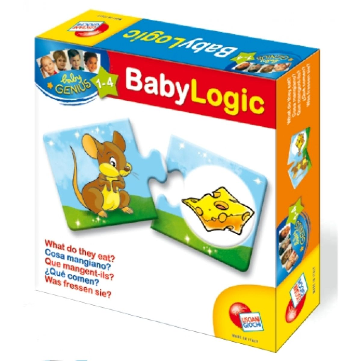 Baby genius baby logik Lisciani Giochi - Co zvířátka jedí?