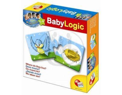 Baby genius baby logik Lisciani Giochi - Kde zvířátka žijí?