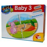 Baby genius baby skládačka 3v1 - Co zvířátka jedí?
