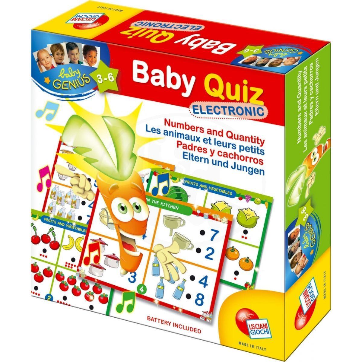 Lisciani Giochi Baby genius Elektro kvíz Čísla a určování množství