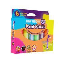 Little Brian Paint Sticks zářivé barvy 6-pack