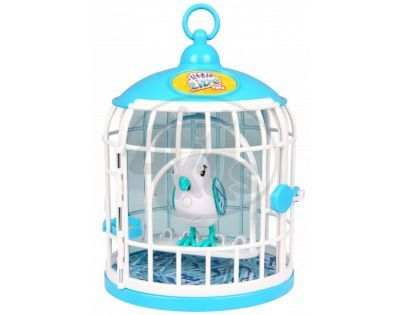 Little Live Pets Ptačí klec - Bílý ptáček