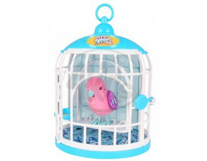 Little Live Pets Ptačí klec - Růžový ptáček