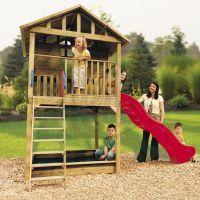 Little Tikes 172212 - Dřevěný domeček se skluzavkou Hampton
