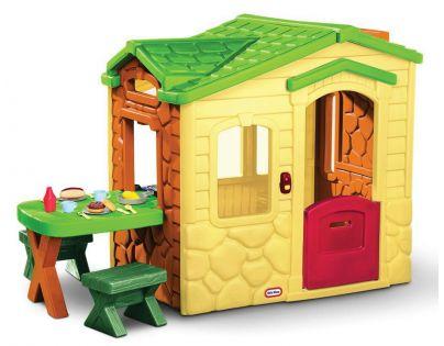 Little Tikes 172298 - Domek s piknikovým stolkem - Natural