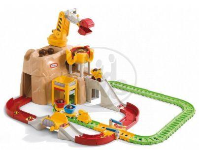 Little Tikes 620904M - Big Adventures™ Autodráha se železnicí a jeřábem