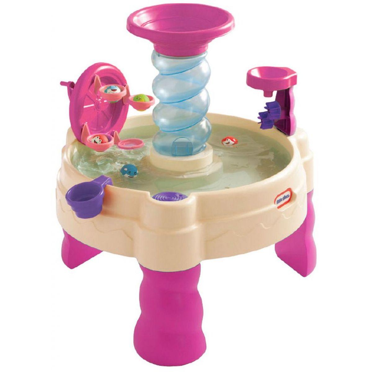 Little Tikes Spirálovitý vodní stůl růžový