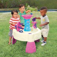 Little Tikes Spirálovitý vodní stůl růžový 2