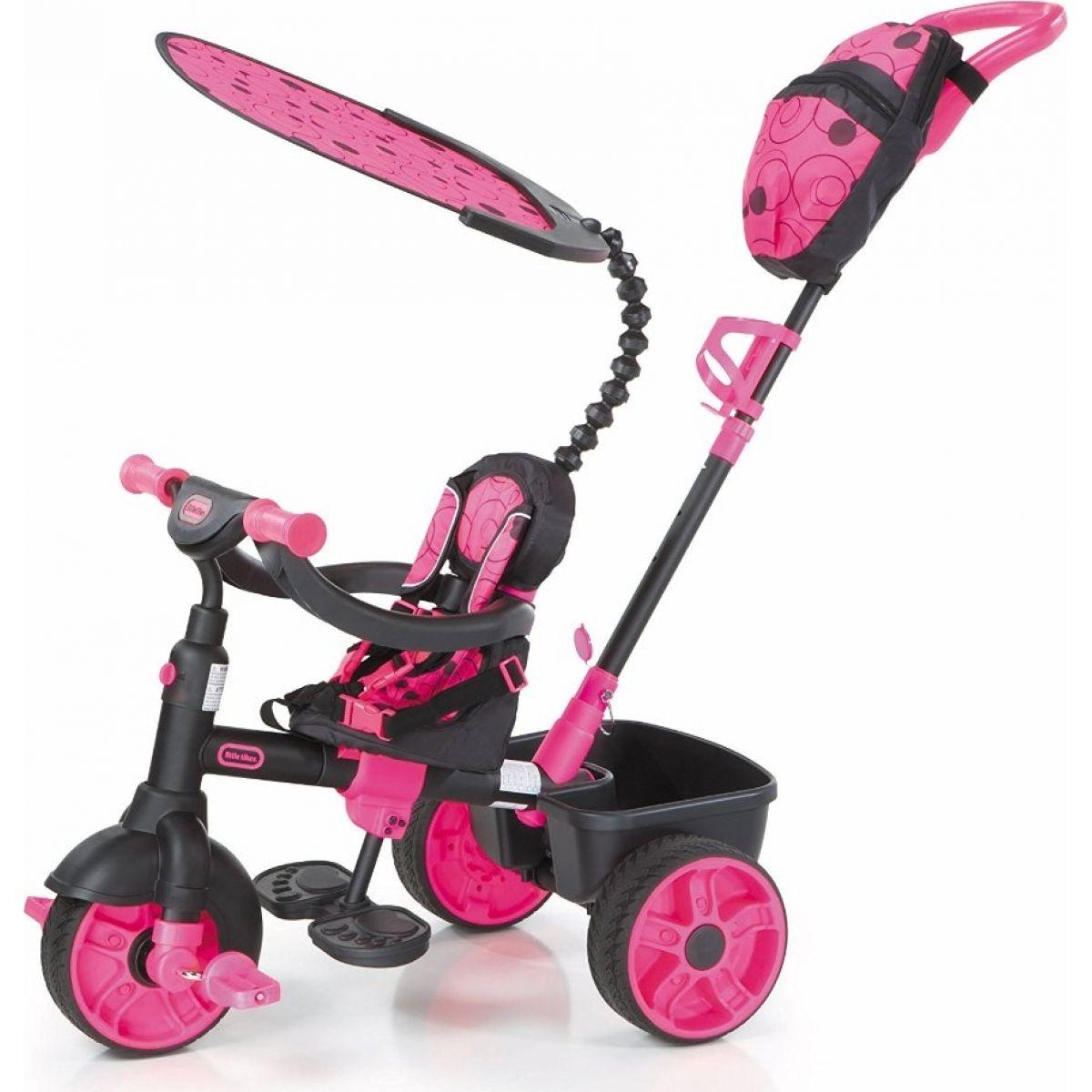 Little Tikes Tříkolka 4v1 Deluxe Neonová růžová