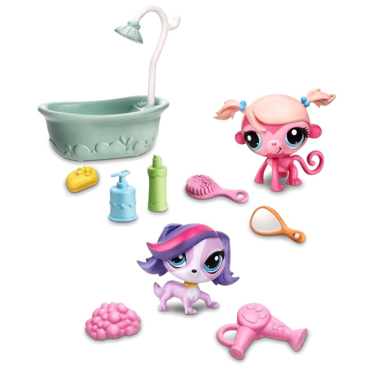 Littlest Pet Shop 4 zvířátka s doplňky v přenosném balení - Gettin' Glam