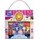 Littlest Pet Shop 4 zvířátka s doplňky v přenosném balení - Showtime Friends 2