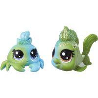 Littlest Pet Shop Duhový set 2 ks zvířátek Seafoam Dazzleshell a Brillia Beryl