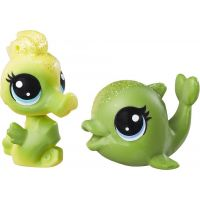Littlest Pet Shop Duhový set 2 ks zvířátek Splashina Lemonglow a Salty Shimmerton