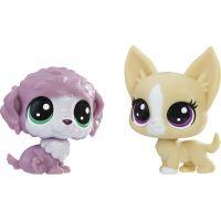 Littlest Pet Shop Dvě zvířátka Chunky Waterfluff a Mayor Perrito
