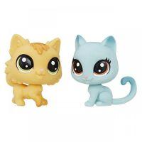 Littlest Pet Shop Dvě zvířátka Fluffy Catson a Kitty Von Grey