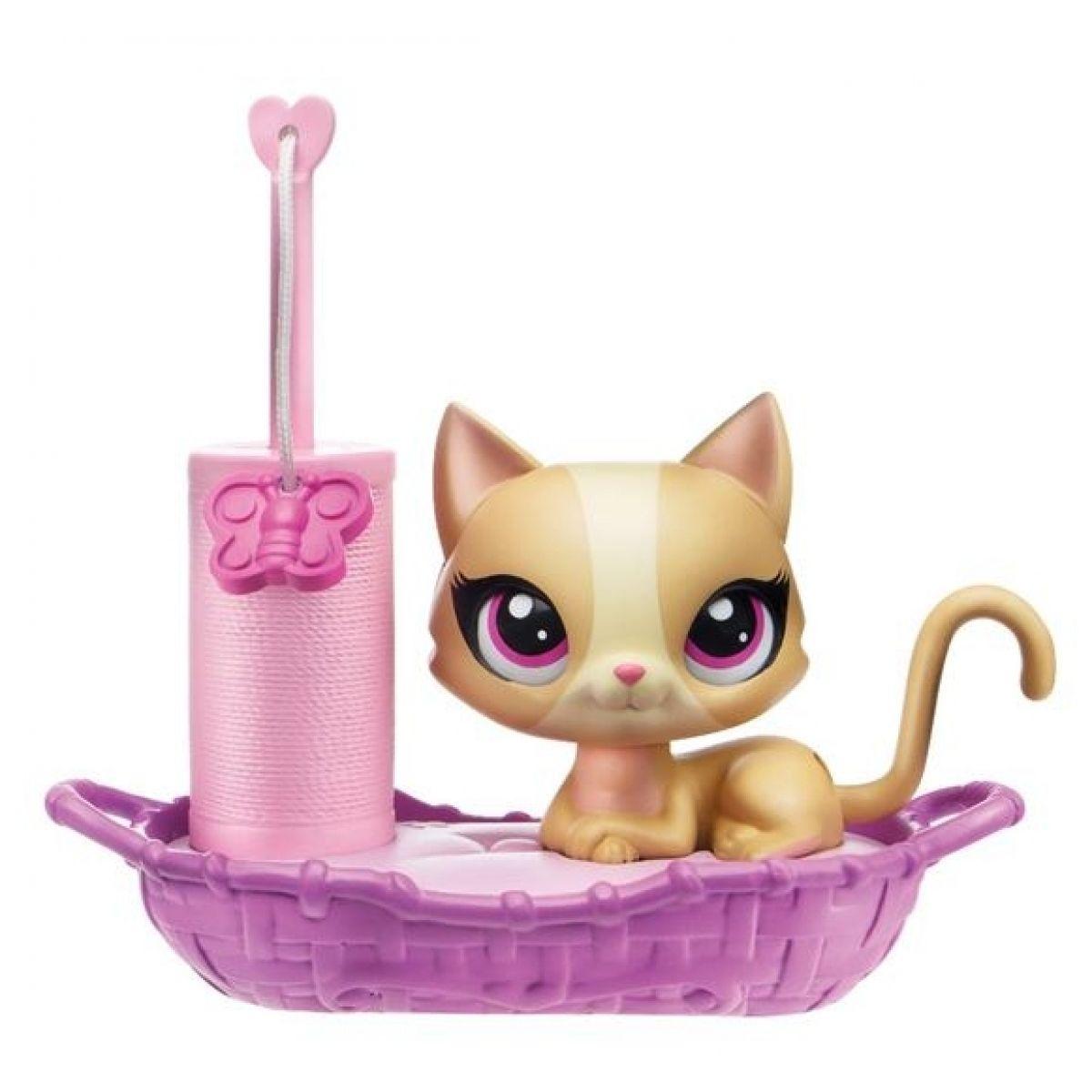Littlest Pet Shop Magic motion zvířátko s doplňkem - Kočka