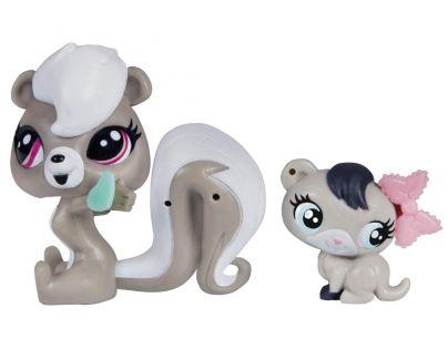 Littlest Pet Shop Maminka s miminkem - A8425 Skunk a fretka