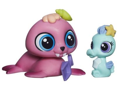 Littlest Pet Shop Maminka s miminkem - B0102 Wallace Waterman a Sally Seaforth
