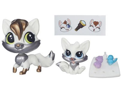 Littlest Pet Shop Maminka s miminkem - B4766 Lulu Foxley a Reynand Foxley