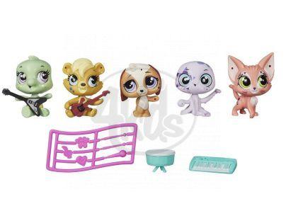 Littlest Pet Shop Pět zvířátek s doplňky - B1427