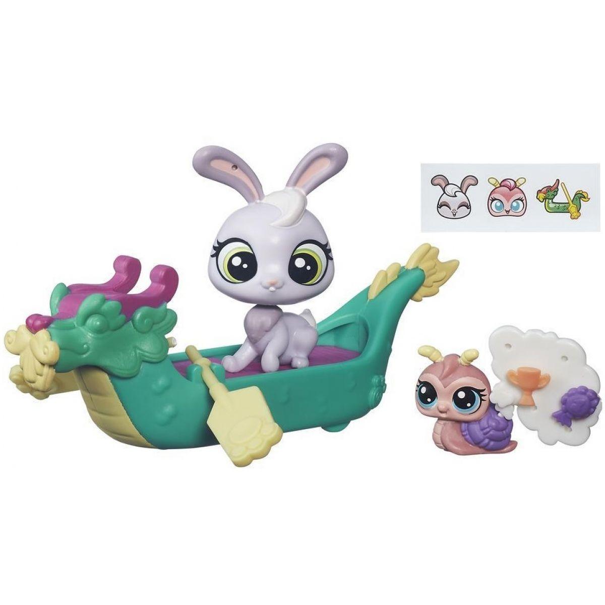 Littlest Pet Shop Zvířátko s kamarádem a vozidlem - B7755
