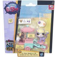 Littlest Pet Shop Zvířátko s kamarádem a vozidlem - B7756 2