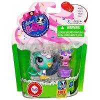 Littlest Pet Shop zvířátka - 3035 Kanár 3036 Méďa 3