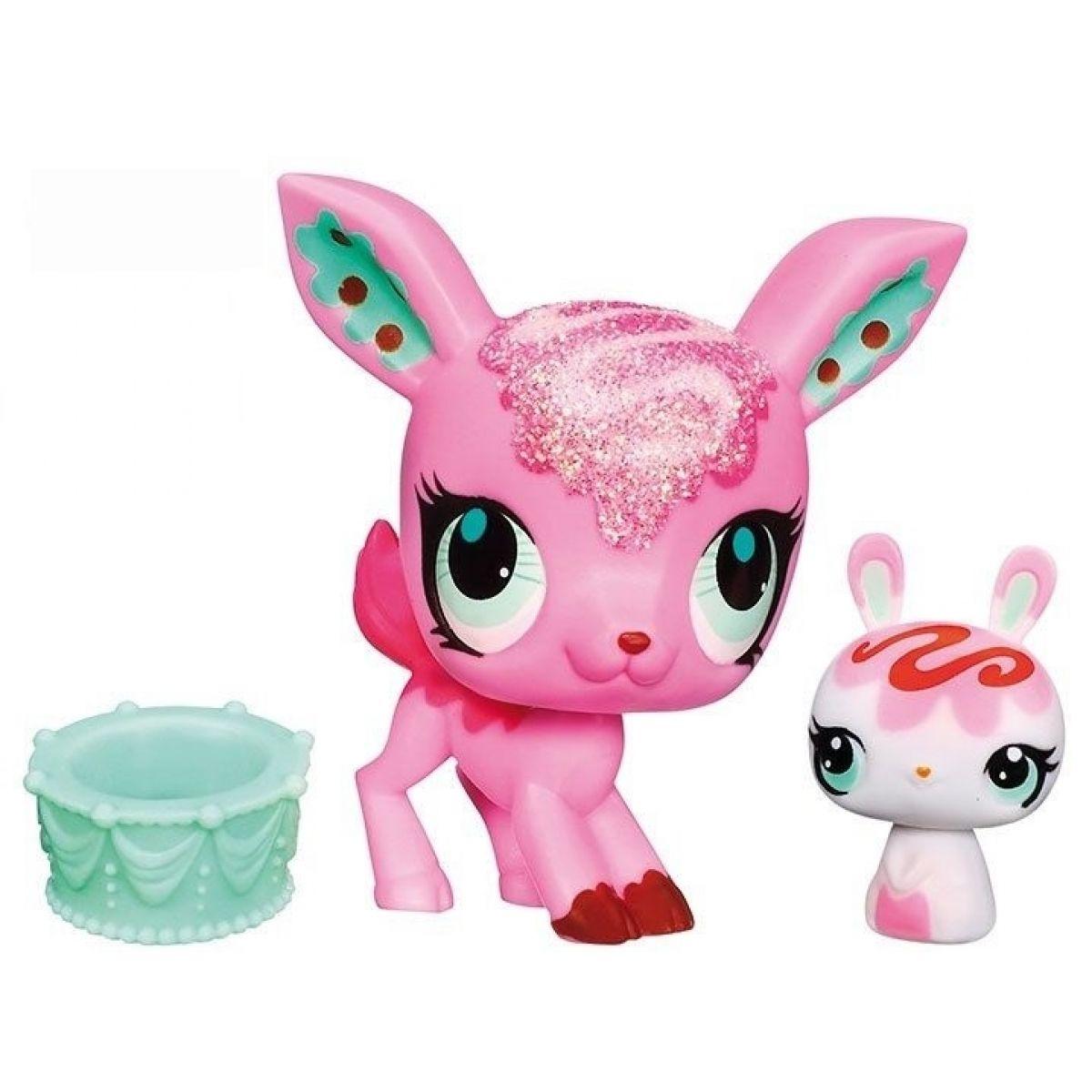 Littlest Pet Shop zvířátka - 3037 Jelen 3038 Králík
