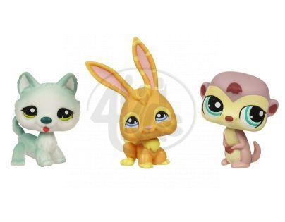 Littlest Pet Shop 93664_94562 - Zvířátka 3 ks - Králík, vačice, vlček