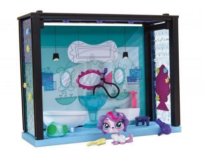 Littlest Pet Shop Zvířátko s domečkem - Salón krásy