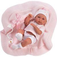 Llorens Panenka New Born holčička v bílé čepičce