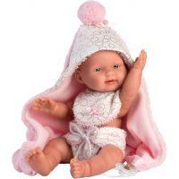 Llorens 26308 New born dieavčatko Realistická bábika bábätko s celovinylovým telom 26 cm