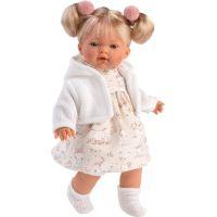 Llorens 33116 Roberta realistická panenka se zvuky a měkkým látkový tělem 33 cm