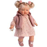 Llorens 33130 Ariana realistická panenka se zvuky a měkkým látkový tělem 33 cm