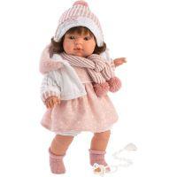 Llorens 38562 Lola realistická panenka se zvuky a měkkým látkový tělem 38 cm