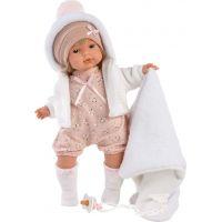 Llorens 38564 Lola realistická panenka se zvuky a měkkým látkový tělem 38 cm