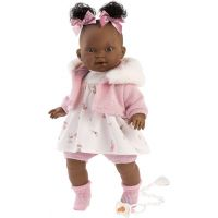 Llorens 38618 Diara realistická bábika so zvukmi a mäkkým látkový telom 38 cm