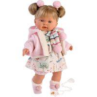 Llorens 42270 Alexandra realistická bábika so zvukmi a mäkkým látkový telom 42 cm