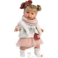 Llorens 42402 Julia realistická panenka se zvuky a měkkým látkový tělem 42 cm