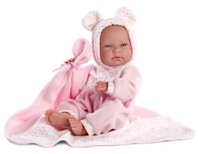 Llorens Panenka New Born s růžovou dekou