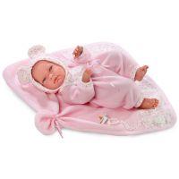 Llorens Panenka New Born s růžovou dekou 2