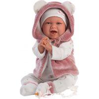 Llorens 74070 New born Realistická panenka Miminko se zvuky a měkkým látkový tělem 42 cm