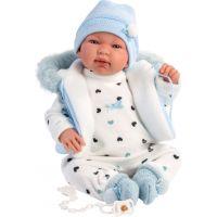 Llorens 84439 New born Realistická panenka Miminko se zvuky a měkkým látkový tělem 44 cm